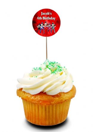 Power Rangers Cupcake Picks/Toppers